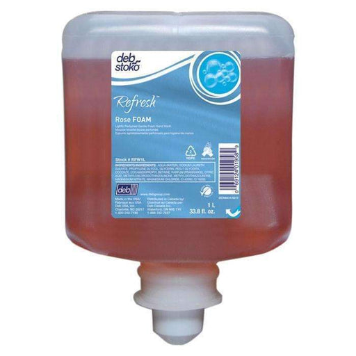 Deb Deb RFW1L Aerorose Foam Soap 1 Liter Cartridges, 6 Case - Janitorial Superstore