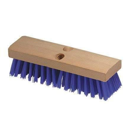 Janitorial Superstore10 Deck Scrub Brush Head Blue