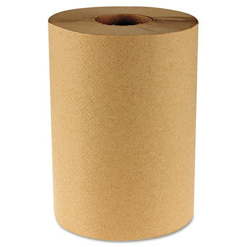 "Nova Nova 800N 8"" Hardwound Roll Towel, Brown, 800 Ft, 6 Case (6139) - Janitorial Superstore"