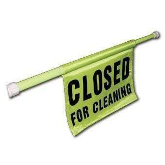 Rubbermaid Closed For Cleaning Hanging Safety Sign
