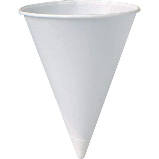 Call for PricingRolled Rim Paper Cone Cup - 4.5 oz. 5,000 Cs