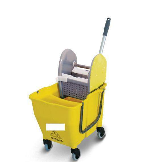 Janitorial Superstore Dual-Cavity Bucket/Downpress Wringer Mopping System - Janitorial Superstore