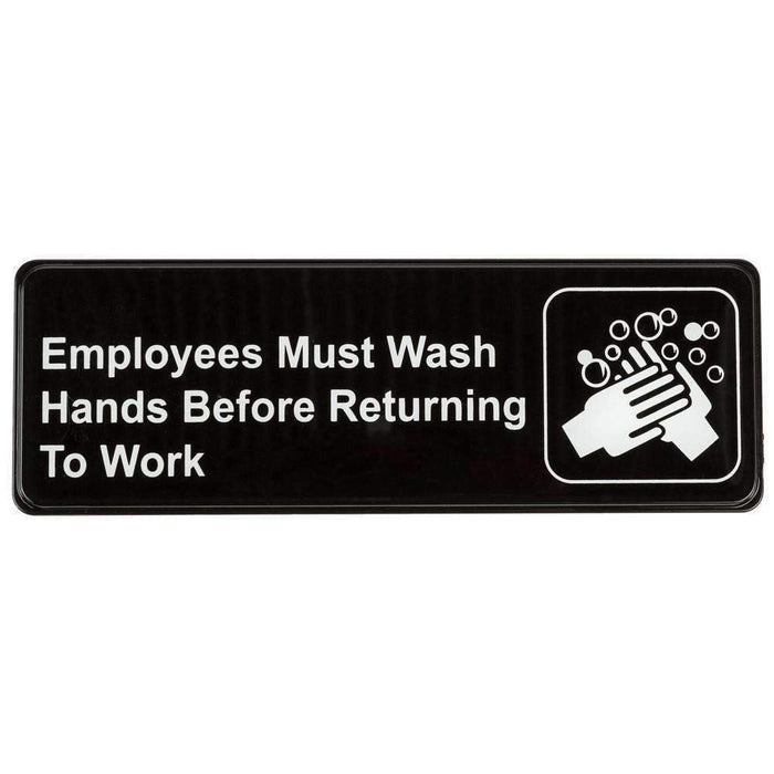 Janitorial SuperstoreEmployees Must Wash Hands Before Returning to Work Sign