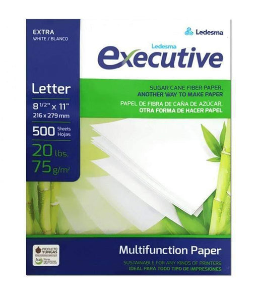 "Ledesma Executive Multifunction Copy Paper, 8.5"" x 11"", 20 lbs, 96 Brightness, 1 500 Ream"