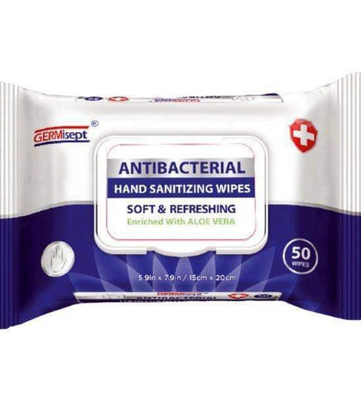 GERMisept Germisept Antibacterial Hand Sanitizing Wipes, 50ct (6059) - Janitorial Superstore