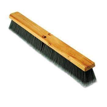 Gray Polypropylene Floor Push Broom