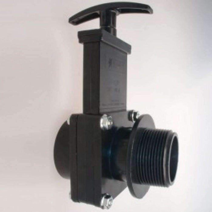 Janitorial Superstore Edic K00711 Gates Drain Valve, Black 1 1/2 - Janitorial Superstore