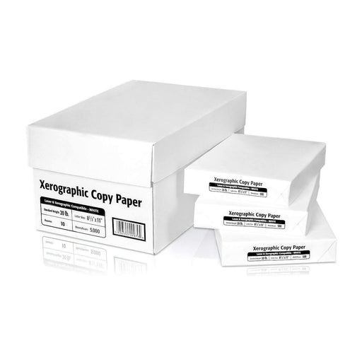"Janitorial Superstore Multipurpose Xerographic Copy Paper, 8.5"" x 11"", 20 lbs, 92 Brightness, 5,000/Case - Janitorial Superstore"