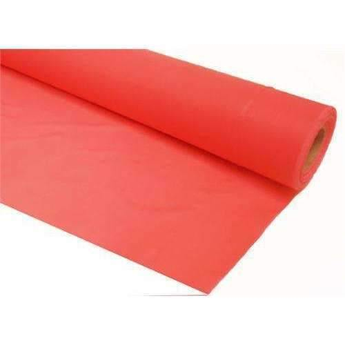 "40"" x 300' White or Red Embossed Poly Tablecover (7525210950)"