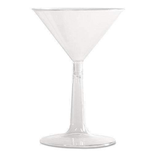 Janitorial Superstore Comet MT696 6 oz Clear Base Polystyrene Martini Glass 96 cs - Janitorial Superstore