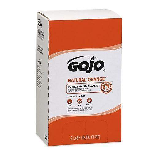 Gojo 7255-04 Natural Orange Pumice Hand Cleaner 2000ml Refills, Orange Citrus, 4 Case (8091155334)