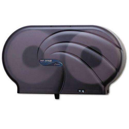"San Jamar San Jamar R4090TBK Twin Oceans 9"" Double Roll Jumbo Toilet Tissue Dispenser - Black Pearl - Janitorial Superstore"