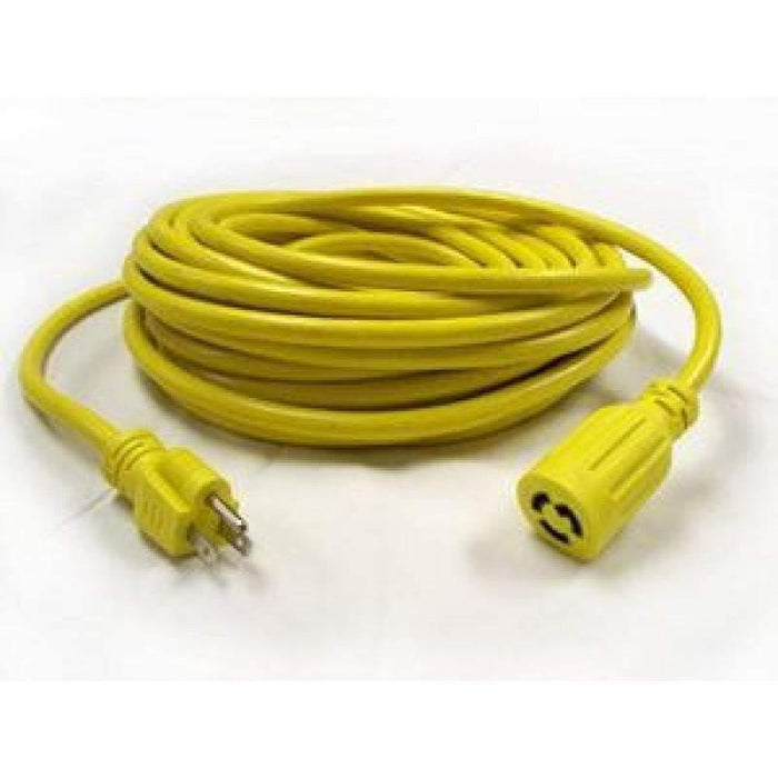 Janitorial Superstore Edic B11769 Twist Lock Electrical Cord 50' Yellow - Janitorial Superstore