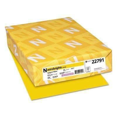 Janitorial Superstore Astrobrights® Color Cardstock, 65lb, 8 1/2 x 11, Sunburst Yellow, 250 Sheets - Janitorial Superstore