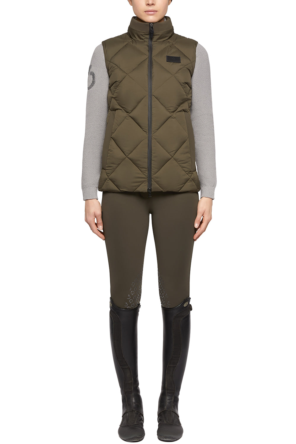 Cavalleria Toscana Nylon Hooded Vest W/Fleece Pocket Lining