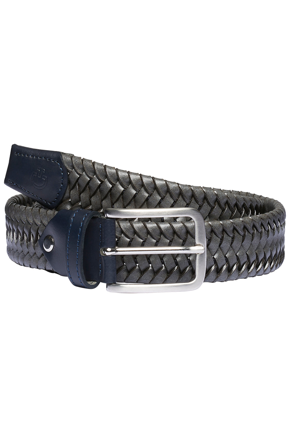 Cavalleria Toscana Elastic Leather Belt w/ contrast Rayon Stripes