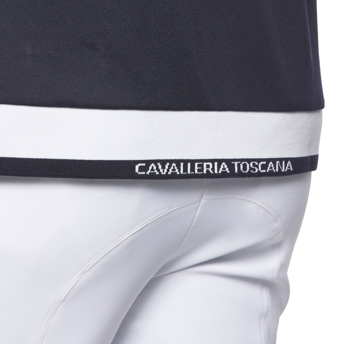 Cavalleria Toscana Men's Jersey Piquet S/S Competition Polo