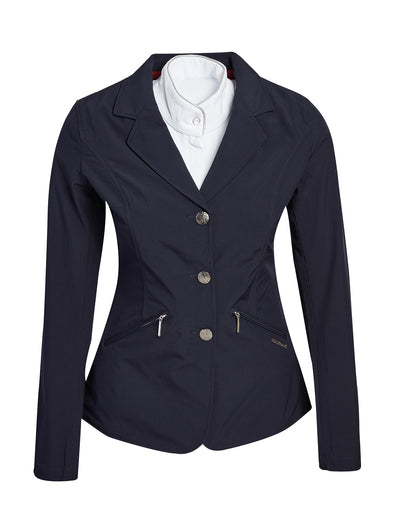 The Horseware Ireland Ladies Competition Jacket for Spring 2018 is such a great jacket, you'll end up wanting every color!  Made with a very light and stretchy, waterproof and breathable material with a soft hand.  HW exclusive design buttons / Comes with spare button HW design zipper on pockets Machine washable inside out 85% Polyester, 3% Spandex, 12% PU
