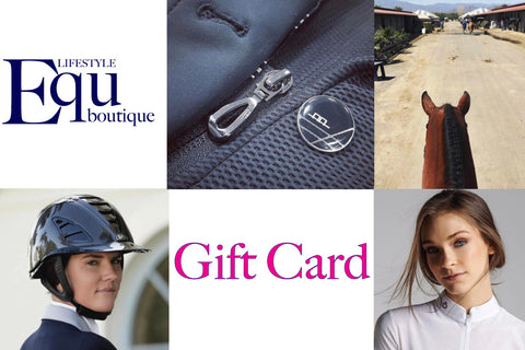 Shopping for someone else but not sure what to give them? Give them the gift of choice with a EQU Lifestyle Boutique gift card.  Gift cards are delivered by email and contain instructions to redeem them at checkout. Our gift cards have no additional processing fees.