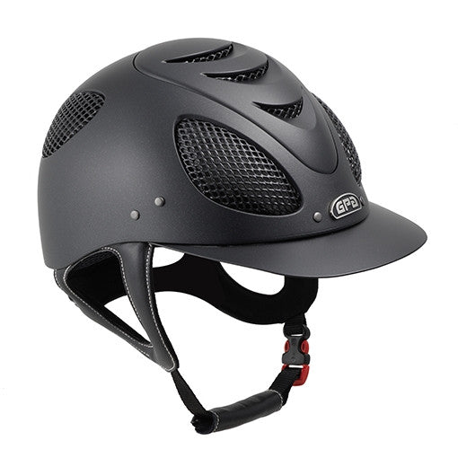 Perfect for riders who want a light-weight, highly vented helmet with a traditional brim shape. This helmet looks great on a wide variety of people, and feels even better!  Made from GPA's soft-touch outer shell to reduce scratches, slough off dirt, and reflect the sun's rays. The inner lining includes built-in antimicrobial protection and prevents against odor, stains, and the formation of mold. CoolMax technology keeps you cool when the heat is on. Moisture is actively wicked away from the skin to encoura