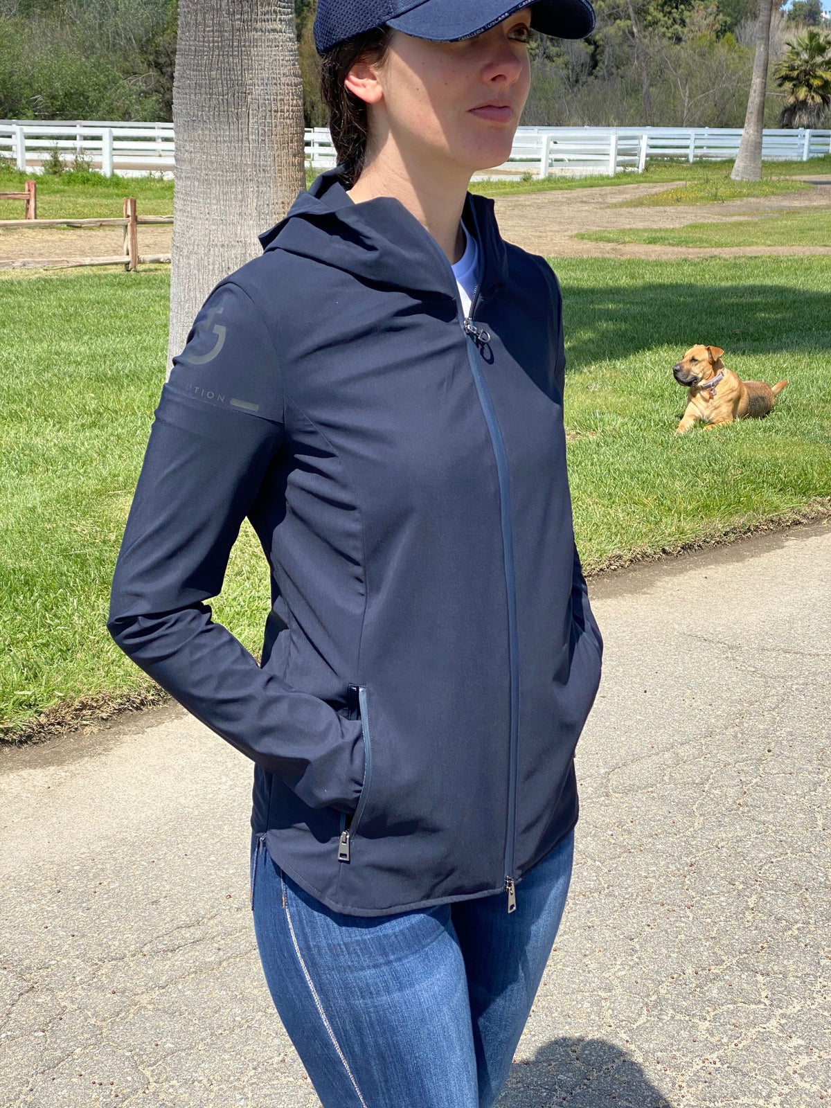 The Cavalleria Toscana R Lab Windblock w/ Side Opening Jacket is a dandy!  Cool zipper & snap detail, a great windproof layer and so cute!  Stretch Fabric Wind-proof  Water-repellant No pilling