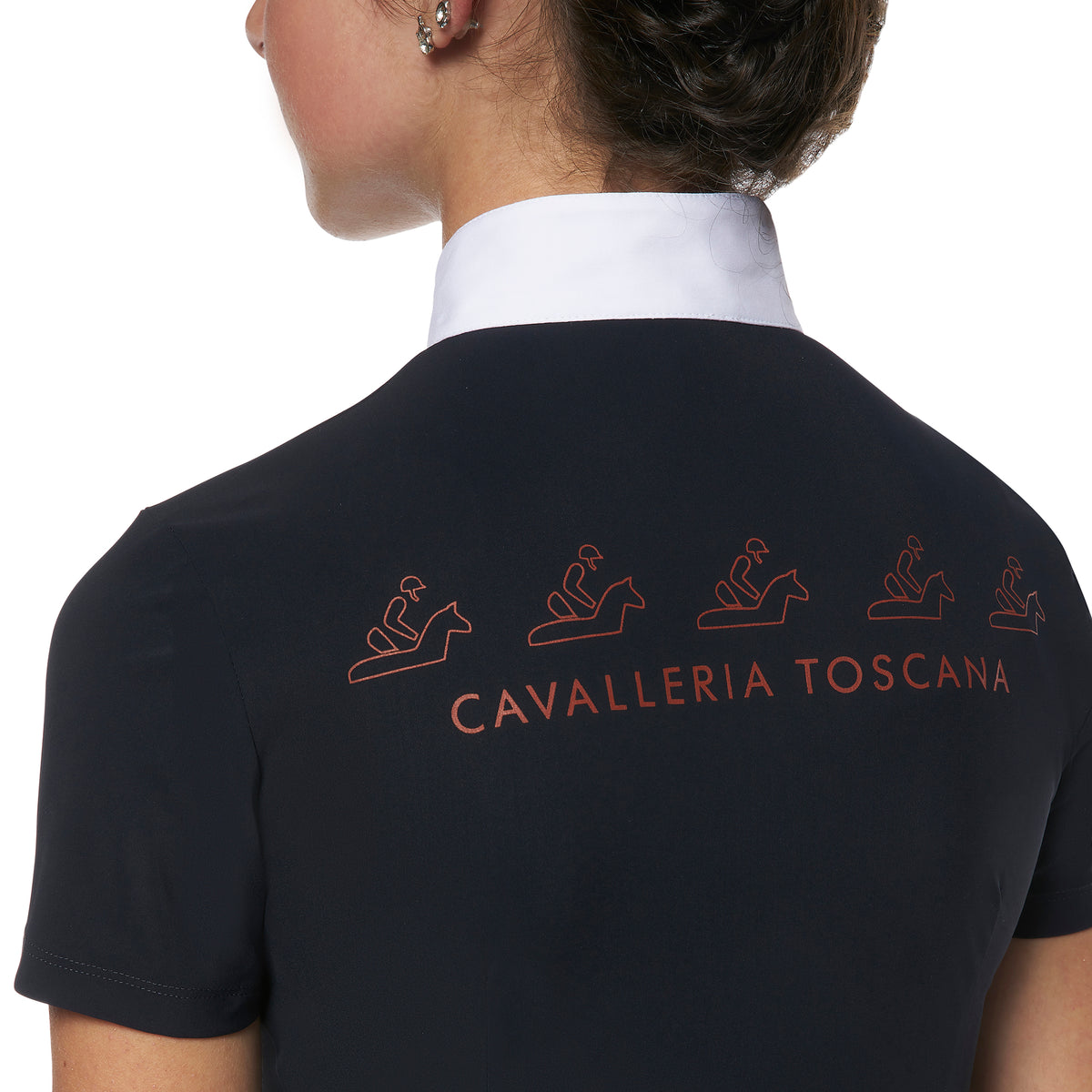 Cavalleria Toscana Girls Horse & Rider Jersey Competition Polo