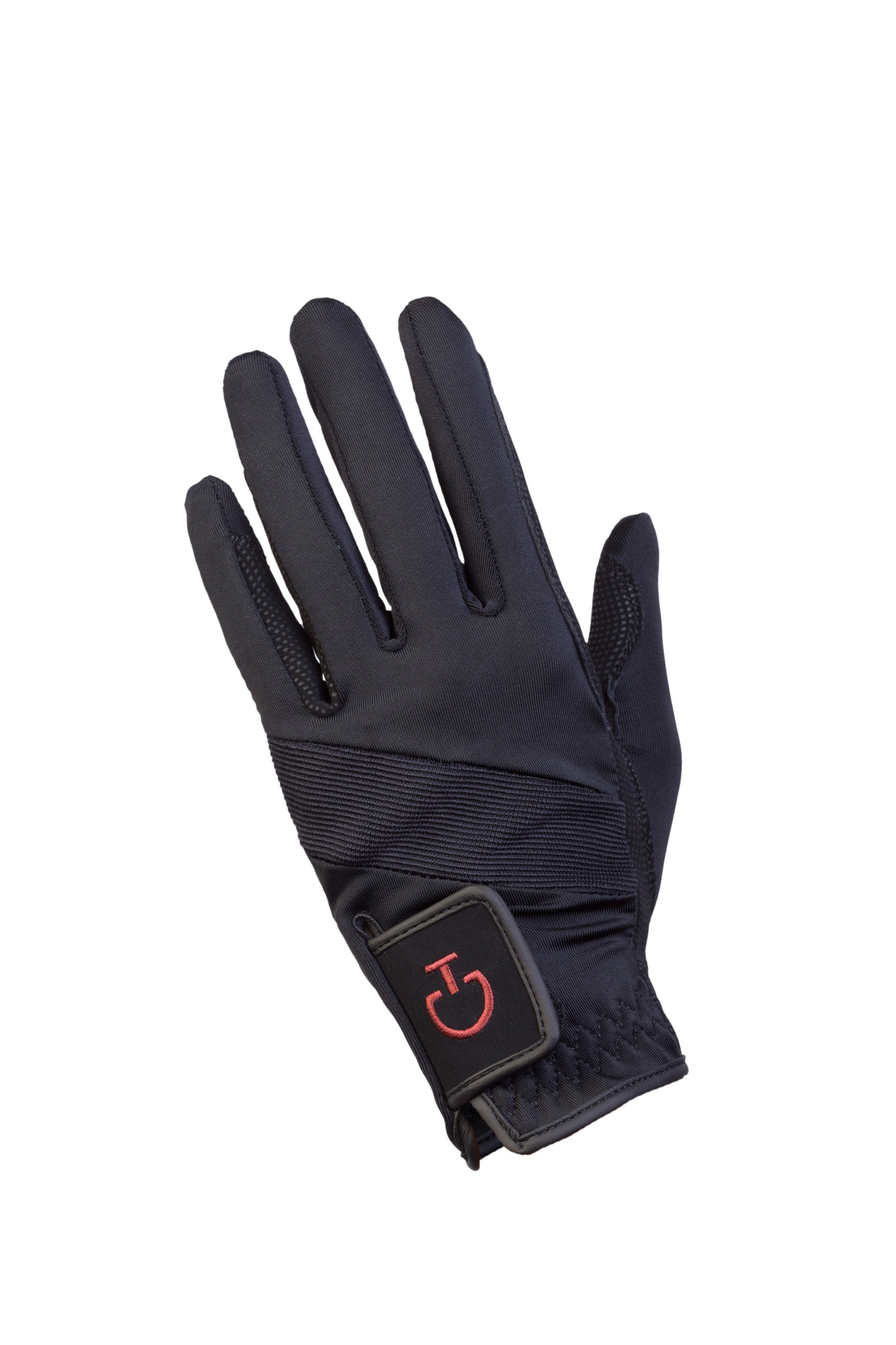 The Cavalleria Toscana technical riding gloves are perfect for all disciplines, featuring a sleek black design with subtle logo placement, special fabric and a grippy palm that will help you keep a tight rein!