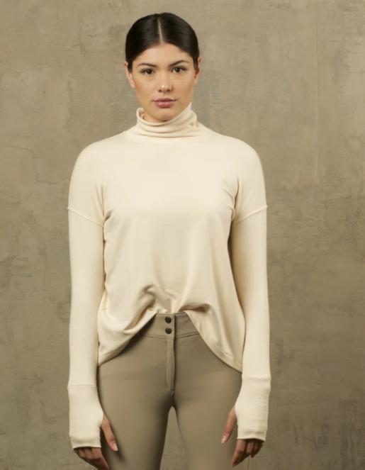Two Bits Equestrian Bamboo Turtleneck