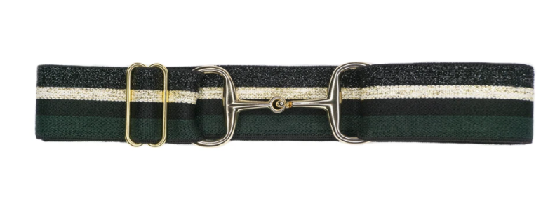 Ellany Snaffle Gold Bit Adjustable Belts 1.5""