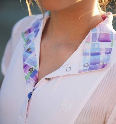 The Schuyler is a fun and fashionable show shirt – traditional when buttoned up, but with fun, limited edition NYC prints on the inside of the crisp woven collar and cuffs – both of which feature gorgeous pearl easy-close snaps. Made of our custom Cool-touch™ microfiber with Chill-factor™ cooling fabric, treated with POWERFRESH™, an antimicrobial treatment to keep your shirt smelling fresh.  Also available in a long sleeve here!