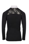 The Horseware Ireland Sara Shirt in Long Sleeve is made with a comfortable wicking Nylon/Spandex fabric with lace back detail. Also contains Coolmax and is antibacterial.  A great fit with a cool and soft touch!  Machine washable 92% Nylon, 8% Spandex
