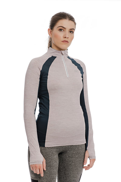 The Horseware Ireland Winter Aveen Tech-Top, a great update of our bestselling technical base layer!  New raglan sleeve design • Technical fabric; wicking and antibacterial Slimming contrast colour Mesh side panels for ultimate breathability & performance Now available in white version Horseware Ireland Winter Aveen Tech-Top / Machine washable