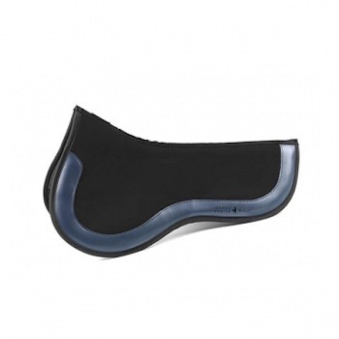 Utilizing EquiFit's ImpacTeq Technology, this saddle pad molds to the contour of the horse's back, ensuring a secure and custom fit. A multi-dimensional air mesh allows air flow and promotes circulation, while an open-cell non-newtonian foam transforms from soft to rigid upon impact. The pads are breathable, antimicrobial and easy to clean. Delivering support, comfort and protection, riding with ImpacTeq is riding with confidence. Navy