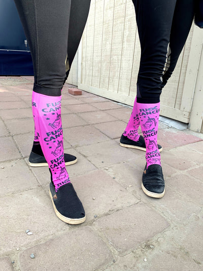 LIMITED EDITION Dreamers & Schemers FU*K Cancer Boot Socks