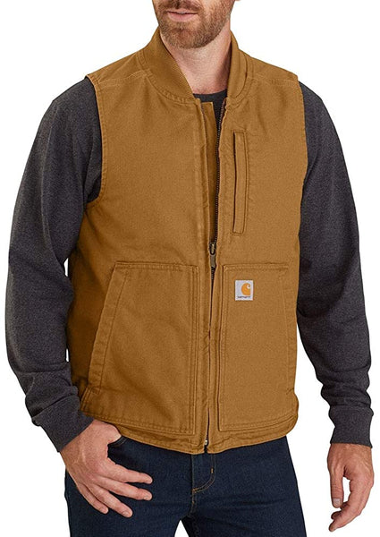 Carhartt Washed Duck Insulated Rib Collar Vest 104395