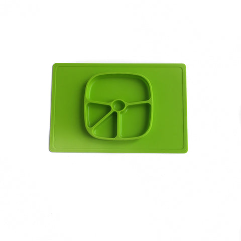 Lime Green Children's Silicone Suction Placemat
