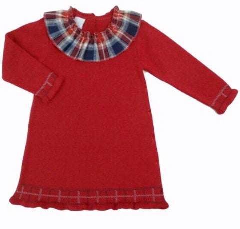 Artesania Granlei Red Knitted Dress