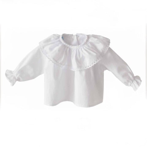White Frilly Blouse