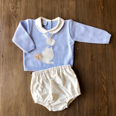 Granlei Boys Bunny knitted Jumper Set