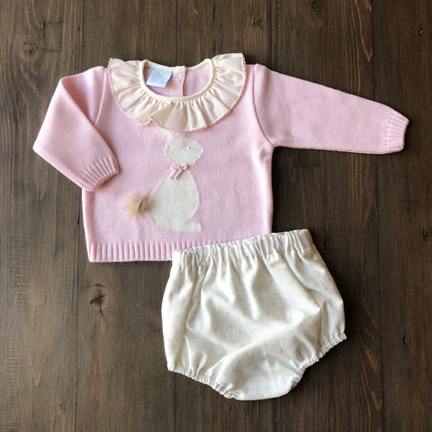 Granlei Girls Bunny knitted Jumper Set