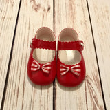 Red Patent Gingham Bow Shoes
