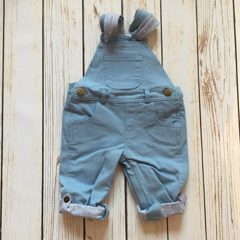 Sky Blue Twill Dungarees