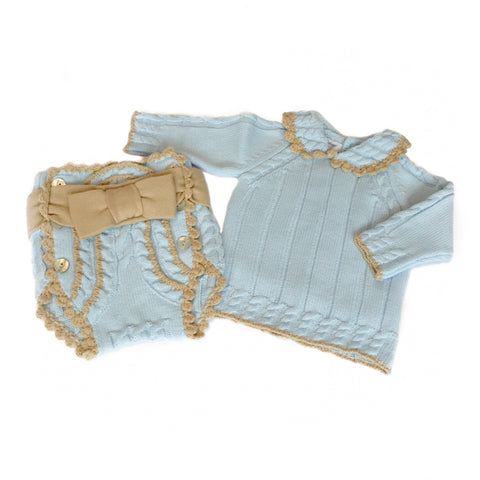 Rahigo Blue & Beige 2 Piece Set