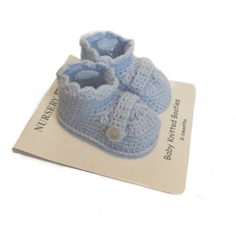 Blue Baby Crochet Booties