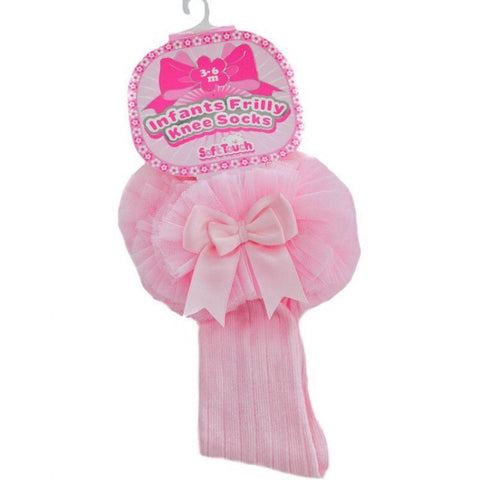 Pink Knee Length Tutu Socks