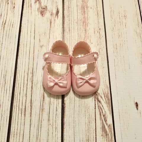 Pink Patent Gingham Bow Soft Sole Shoes