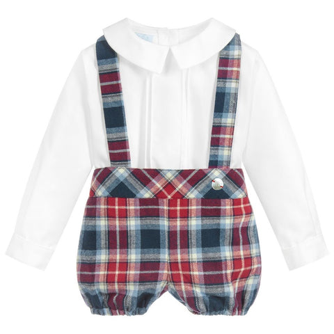 Artesania Granlei Check Dungaree Set