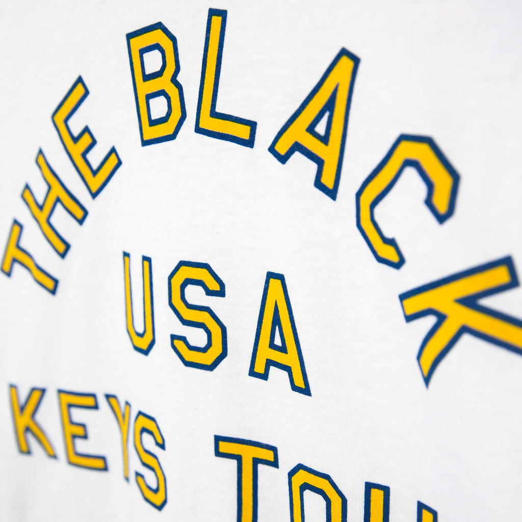 THE BLACK KEYS USA TOUR T-SHIRT WHITE DETAIL