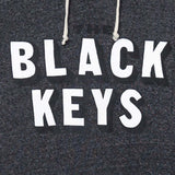 THE BLACK KEYS 3-D LOGO HOODIE HEATHER BLACK - The Black Keys