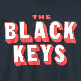 THE BLACK KEYS 3-D LOGO T-SHIRT INDIGO DETAIL